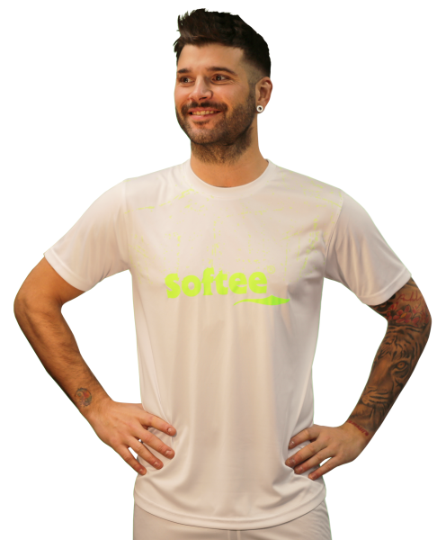Camiseta Softee Sensation Hombre Blanca